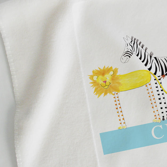Baby blankets personalised baby gifts christening gifts personalised baby blankets personalised baby gifts christening gifts safari friends little folk negle Images